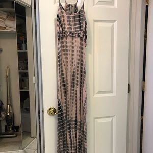 Rue 21 Gray and Pink Tiedie Dress